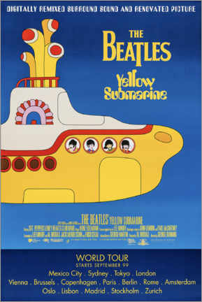 Acrylic print  The Beatles - Yellow Submarine - Entertainment Collection