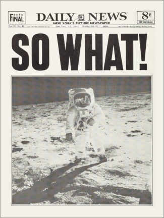 Premium poster  Moon landing - So What! - Entertainment Collection