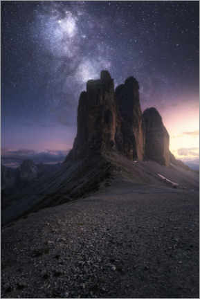 Premium poster  Three peaks in the Dolomites - Christian Möhrle