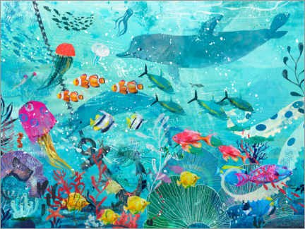 Gallery print  Colorful Underwater World - Kidz Collection