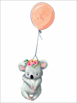 Premium poster  Koala with Balloon - Kidz Collection