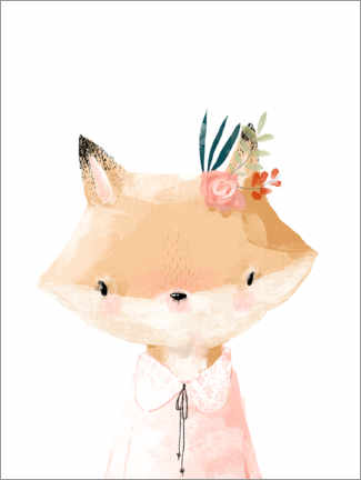 Acrylic print  Miss Fox - Kidz Collection