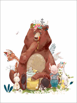 Wall sticker  Forest friends - Kidz Collection