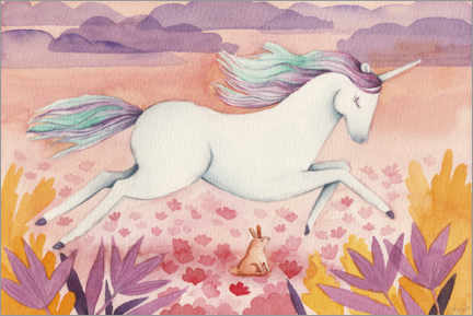 Canvas print  Galloping Unicorn - Michelle Beech