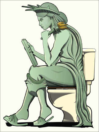 Canvas print  Statue of Liberty on the toilet - Wyatt9