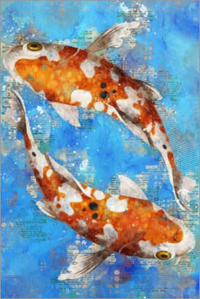 Acrylic print  Koi Fishes - Durro Art