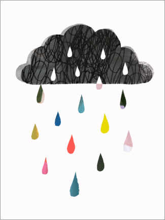 Premium poster Colorful rain cloud