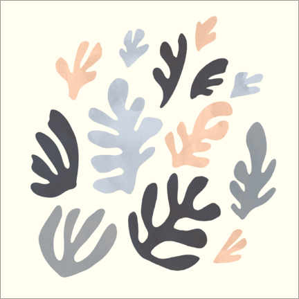Wall sticker Pattern with leaves