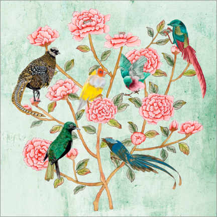 Wall sticker  Minty Chinoiserie II - Melissa Wang