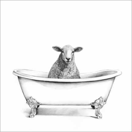 Canvas print  Sheep in the tub - Victoria Borges