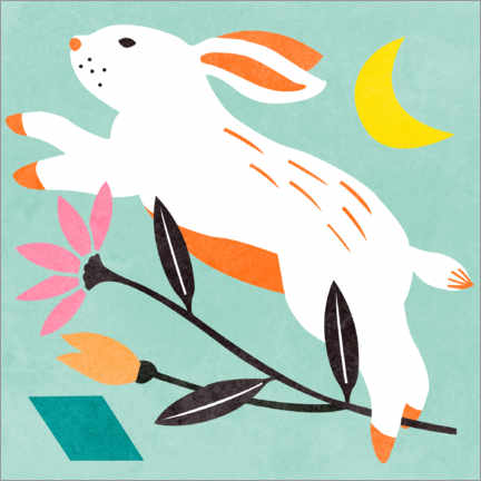 Canvas print  Easter Bunny - Melissa Wang