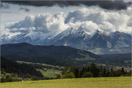 Premium poster View of the High Tatras