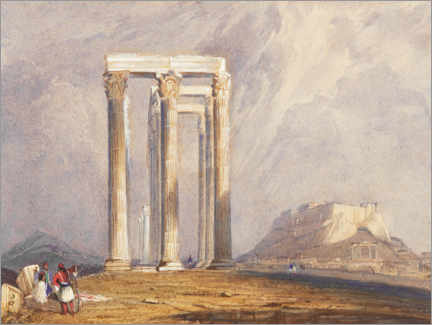 Canvas print  Temple of Jupiter Olympus, Athens - William Clarkson Stanfield