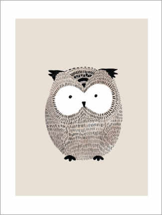 Canvas print  Owl - Mantika Studio