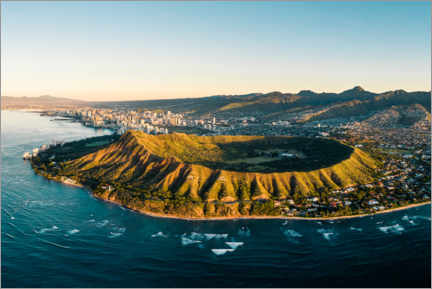 Canvas print  Diamond Head crater in Honolulu, Hawaii - Road To Aloha