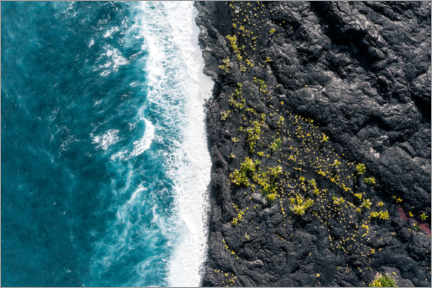 Canvas print  Lava field meets ocean - Road To Aloha