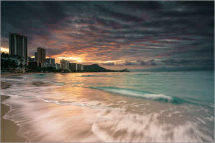 Canvas print  Waikiki at sunrise - Road To Aloha