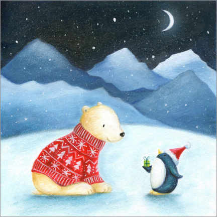 Canvas print  Christmas in the Arctic Circle - Ileana Oakely