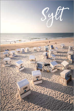 Premium poster Summer evening on the beach on Sylt