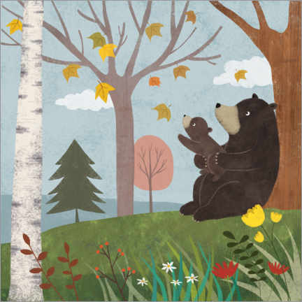 Canvas print  Bear autumn - Lucy Barnard