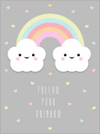Premium poster  Follow your rainbow - Alec Macdonald