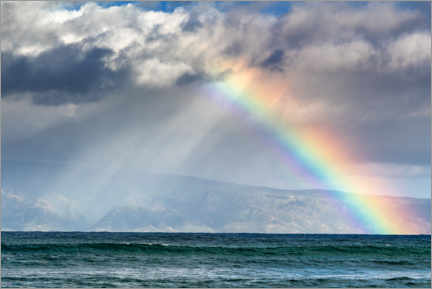 Premium poster  Rainbow over Molokai, Hawaii, USA - Circumnavigation