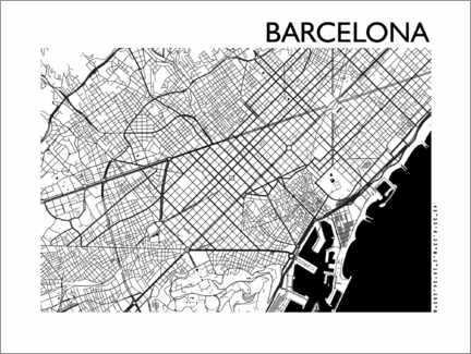 Premium poster  Map of Barcelona - 44spaces