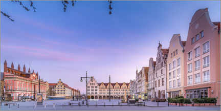 Canvas print  New market with town hall, Rostock - Dirk Petersen