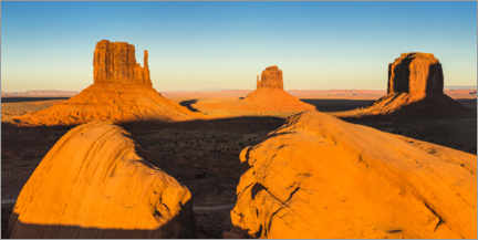 Premium poster Sunset in Monument Valley