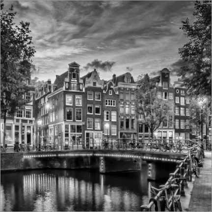 Acrylic print  Evening idyll on the Singel - Melanie Viola