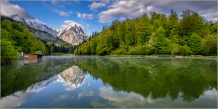Premium poster  Spring in the Bavarian Alps at the Rießersee - Achim Thomae