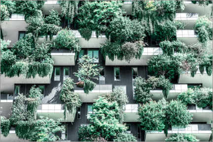Acrylic print  Bosco Verticale or Vertical Forest Towers In Milan - Radu Bercan