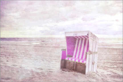 Premium poster Pink beach chair