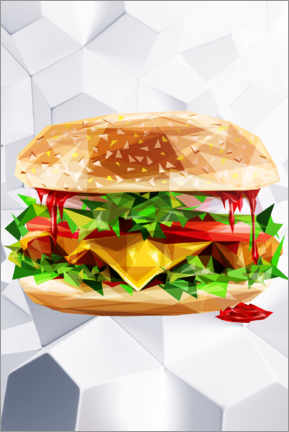 Premium poster  Burger - Dmitry Belov