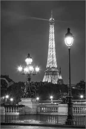 Canvas print  Pont Alexandre III and Eiffel Tower in Paris - Jan Christopher Becke