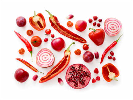 Premium poster  Fresh red fruits and vegetables