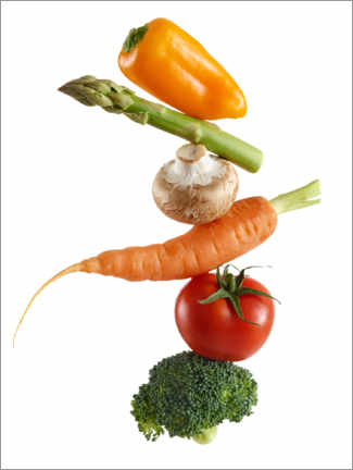 Acrylic print  Stack of fresh vegetables