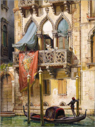 Premium poster  Palazzo Contarini in Venice (House of the Desdemona) - Friedrich Nerly