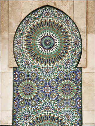 Acrylic print  Decorative, Moroccan mosaic - Art Couture