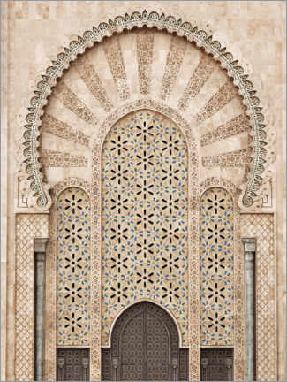 Canvas print  Hassan II Mosque in Morocco - Art Couture