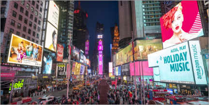Acrylic print  TImes Square at night - Jan Christopher Becke