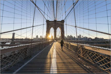 Acrylic print  Brooklyn Bridge at sunrise - Jan Christopher Becke