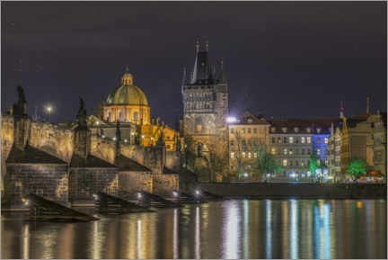 Premium poster  Prague at Night - Ramdan Rashid