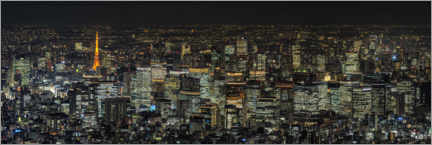 Wall sticker  Tokyo at night - André Wandrei