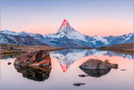 Acrylic print  Sunrise on the Matterhorn with alpenglow - Marcel Gross