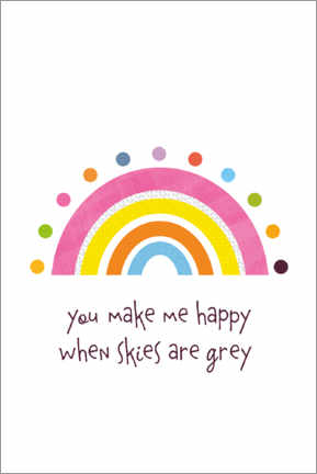 Canvas print  Colourful rainbow you make me happy - Jaysanstudio