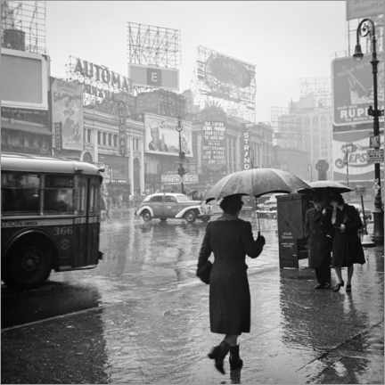 Acrylic print  Times Square on a rainy day in 1944 - Christian Müringer