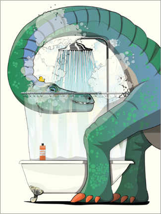 Foam board print  Diplodocus shower - Wyatt9