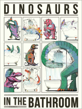 Canvas print  Dinosaurs in the Bathroom - Wyatt9