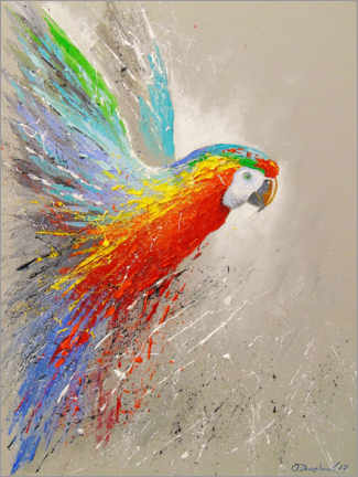 Canvas print  Parrot in flight - Olha Darchuk